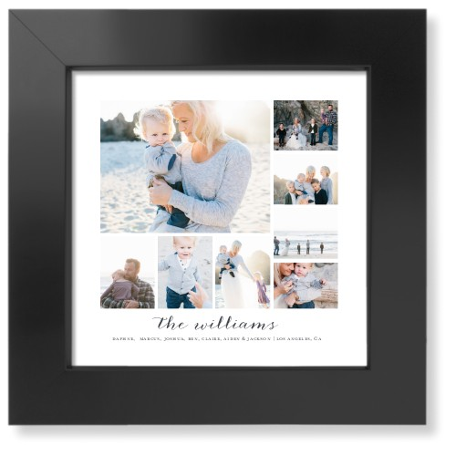 Clean Gallery Collage of Eight Art Print, Black, Pearl Shimmer Card Stock, 8x8, Multicolor