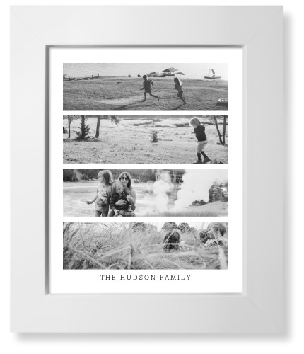 Stacked Collage Of Four Art Print, White, Signature Card Stock, 8x10, White