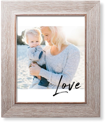 Love Contemporary Art Print, Rustic, Pearl Shimmer Card Stock, 8x10, White