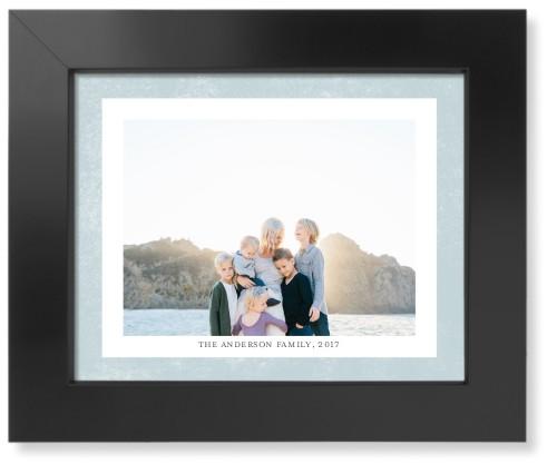 Bold Frame Landscape Art Print, Black, Pearl Shimmer Card Stock, 8x10, Blue