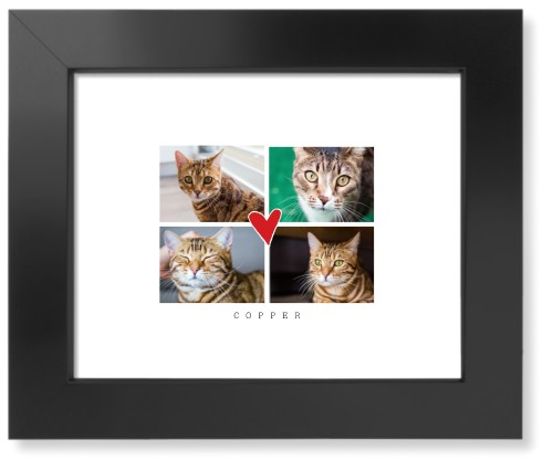 Best Heart Collage Art Print, Black, Signature Card Stock, 8x10, DynamicColor