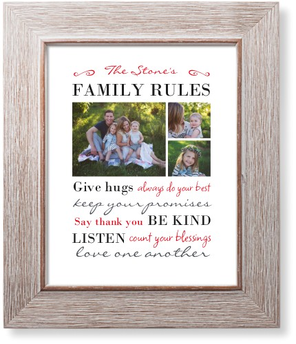 Family rules art print wall decor shutterfly for Home decorating guidelines