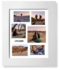 modern collage of six art print