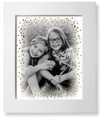 kids bokeh brushed frame art print