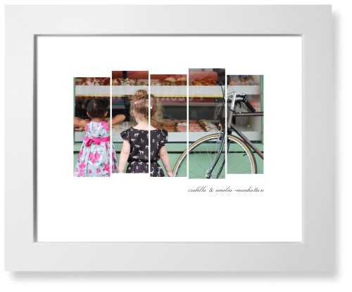 Side By Side Rectangles Art Print, White, Signature Card Stock, 11x14, White