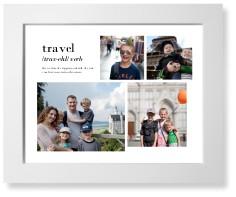 travel collage art print