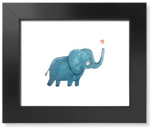 Elephant Watercolor Art Print, Black, Pearl Shimmer Card Stock, 11x14, Multicolor