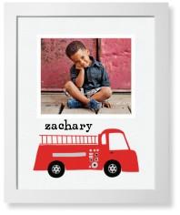 transportation fire truck art print