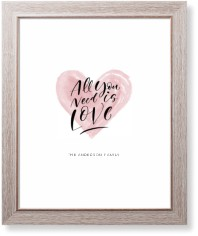 all you need is love watercolor art print