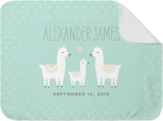 adventure llama baby blanket