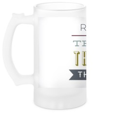 the man glass beer stein