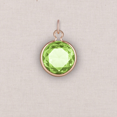 rose gold birthstone crystal charm