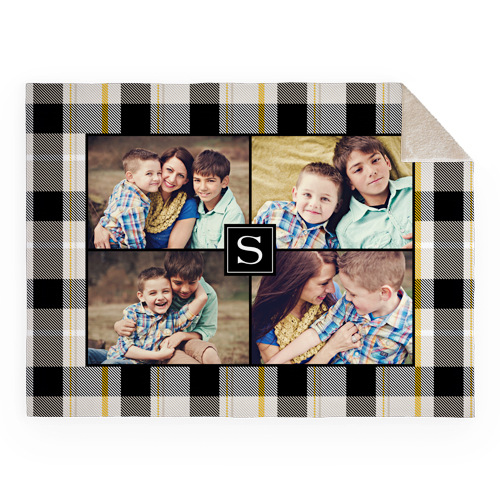 Classic Plaids Fleece Photo Blanket