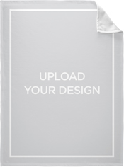upload your own design fleece photo blanket