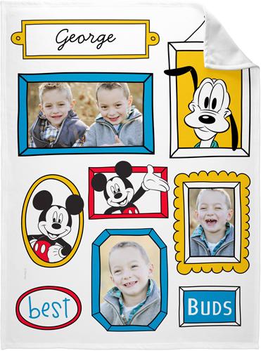 Disney Mickey And Friends Fleece Photo Blanket, Fleece, 60 x 80, Blue