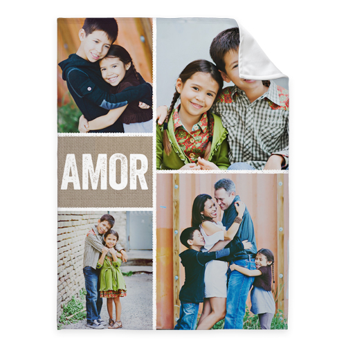 Marcos Con Textura Fleece Photo Blanket