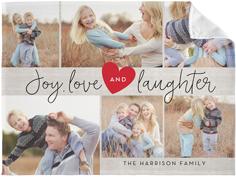 joy love laughter fleece photo blanket