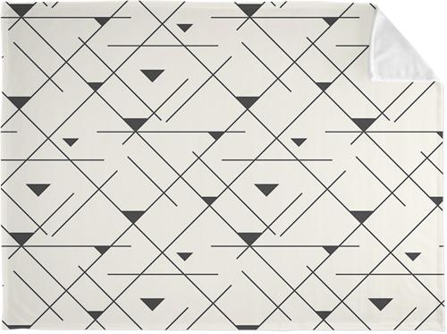 Mandy Moore Collection Geo Fleece Photo Blanket, Plush Fleece, 60 x 80, Multicolor