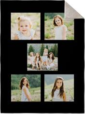 gallery of five fleece photo blanket