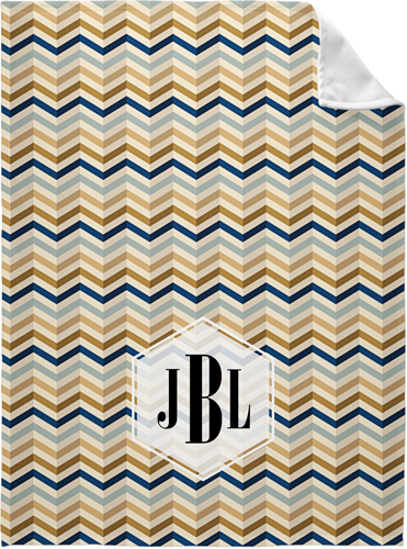 Colorful Chevron Fleece Photo Blanket, Fleece, 60 x 80, White