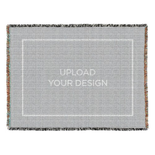 Upload Your Own Design Woven Photo Blanket, 54 x 70, Multicolor