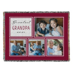 the greatest woven photo blanket