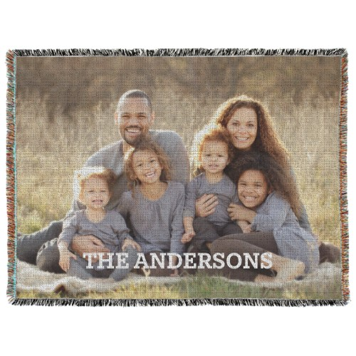 Photo Gallery Woven Photo Blanket, 60 x 80, Multicolor