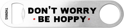 Be Hoppy Bottle Opener, Black