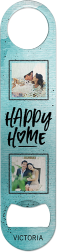 Happy Home Bottle Opener, Blue