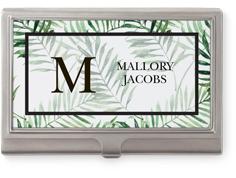 modern palms business card holder