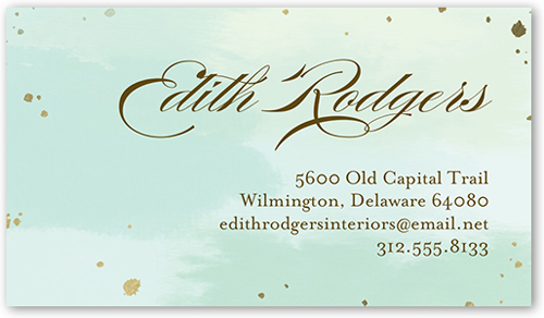 Speckled Introduction Calling Card