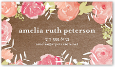 Custom business cards shutterfly floral intro reheart Choice Image