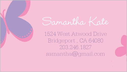 Sweet Butterfly Calling Card
