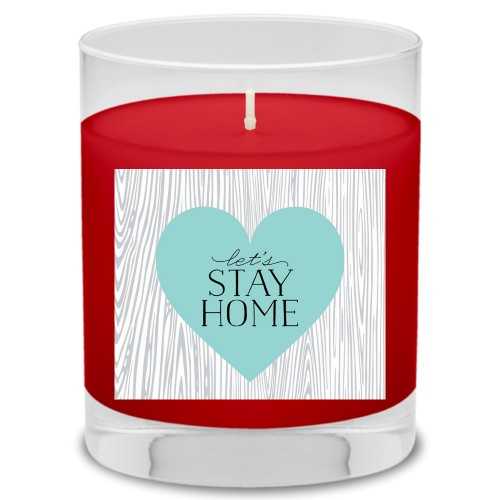 Let's Stay Home Candle, Fireside Spice, Multicolor