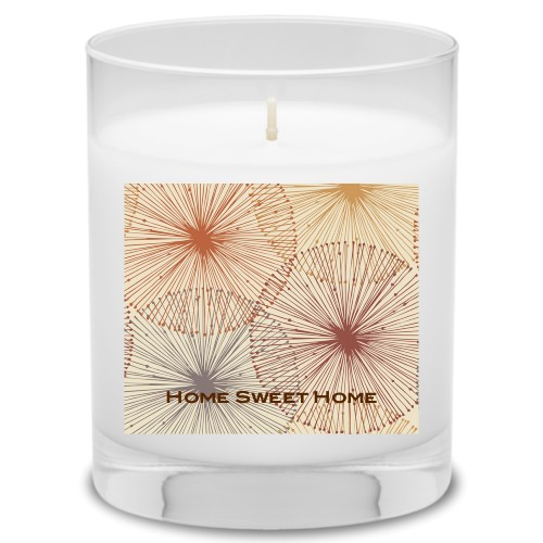 Dandelions Candle, Garden Bouquet, Multicolor
