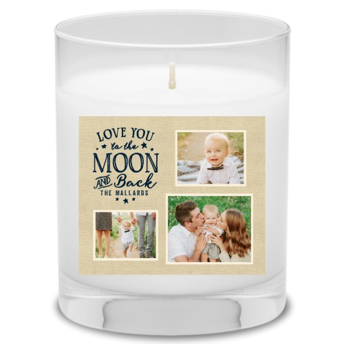 To The Moon and Back Script Candle