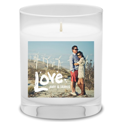 Full of Love Candle, Uncscented, White
