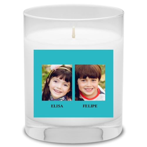 Gallery of Two Candle, Uncscented, Blue