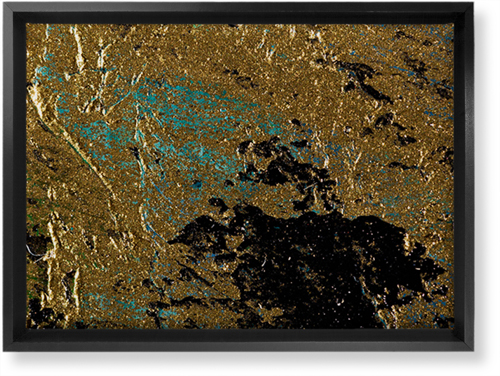 Brushed Printed Foil Canvas Print, Black, Single piece, 10 x 14 inches, Multicolor