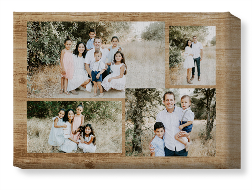 Rustic Collage Canvas Print, None, Single piece, 10 x 14 inches, Brown