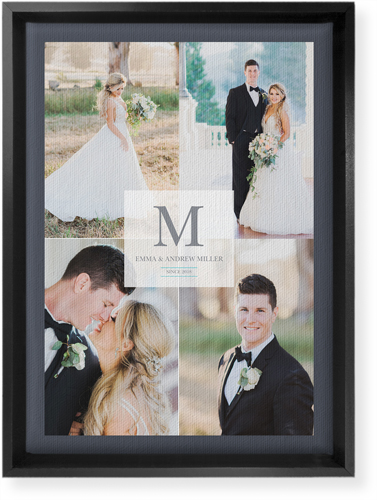 Classic Initial Wedding Canvas Print