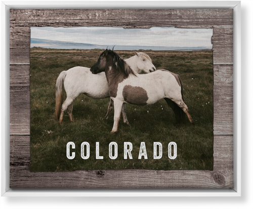 Weathered Wood Frame Horizontal Canvas Print, White, Single piece, 16 x 20 inches, Brown