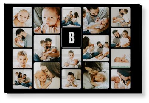 Pictogram Collage Canvas Print