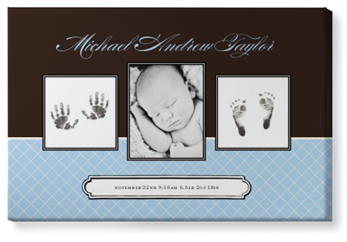Classic Baby Canvas Print, None, Single piece, 24 x 36 inches, Blue