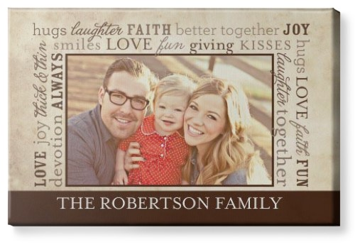 Meaning Of Family Canvas Print