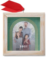 modern arches framed canvas ornament