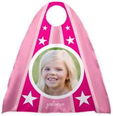 superhero stars pink kids cape