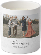 this is us collage ceramic candle