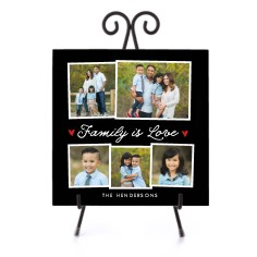 family is love collage ceramic tile