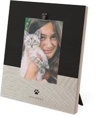 rustic paw print clip photo frame